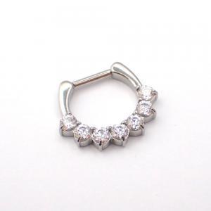 Piercing smycke till septum med sju stycken klara vita swarovski kristaller