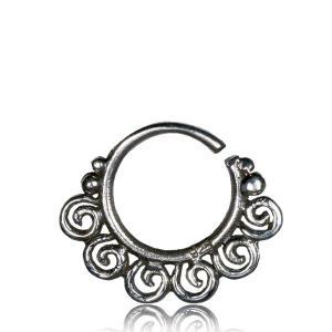 Septumsmycke i äkta silver - Spiraler