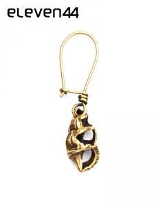 Örhängen, Shell, Brass