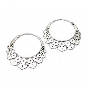 Mandala Hoops, Silverpläterade örhängen