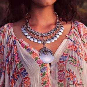 Xenia, Silverpläterat Halsband