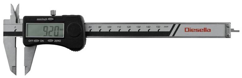 Digitalt skjutmått 0-150 mm Diesella