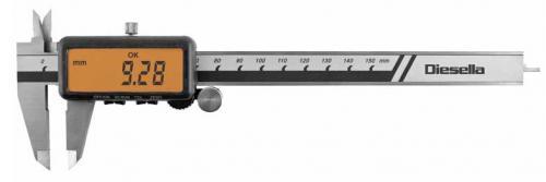 Digitalt skjutmått 0-150 mm toleransfunktion Diesella