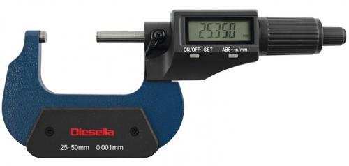 Digital mikrometer 0-25 mm Diesella
