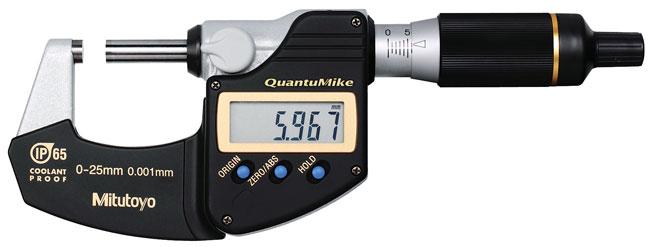 Digital mikrometer 0-25 mm Mitutoyo QuantuMike med datautgång