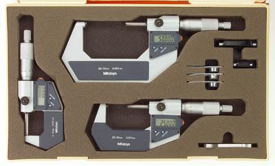Digital mikrometersats 0-100 mm med datautgång Mitutoyo