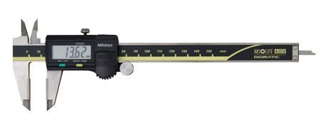 Digitalt skjutmått 0-150 mm Mitutoyo hårdmetall med datautgång, platt djupmått