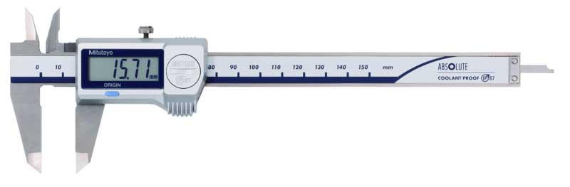 Digitalt skjutmått 0-150 mm Mitutoyo IP67 med flat djupmått