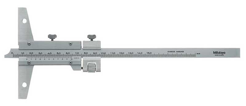Djupskjutmått 0-150 mm Mitutoyo fininställning