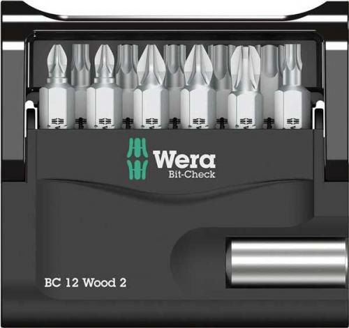 Bitssats kryss, torx 12 delar Wera
