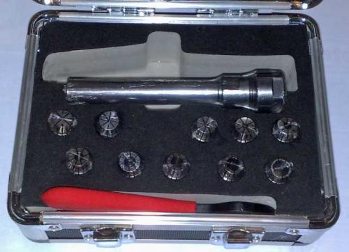 Spännhylschucksats 1-10 mm ER16 cylindriskt fäste