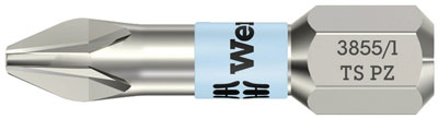 Bits PZ 1 25 mm Wera torsion rostfri 10 st