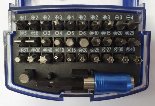 Bitssats kryss, spår, insex, torx 32 delar