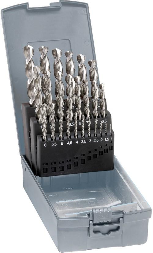 Spiralborrsats 1-10 mm 19 st HSS-Co5 slipade Gühring