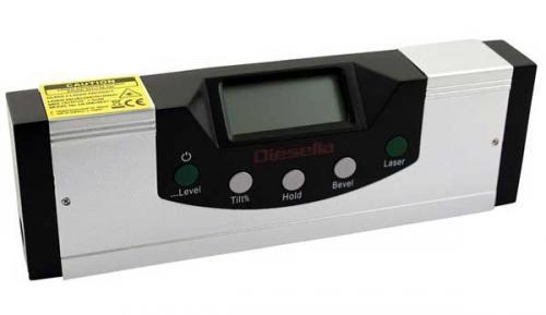 Digital vinkelmätare/vattenpass 150 mm laser Diesella