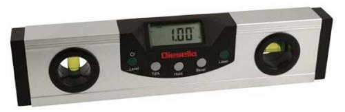 Digital vinkelmätare/vattenpass 230 mm laser Diesella