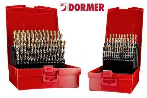 Spiralborrsats 1-10 mm 91 st HSS-TiN slipade Dormer