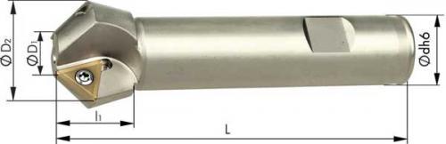 Fas/försänkarfräs 45° 07-21 mm