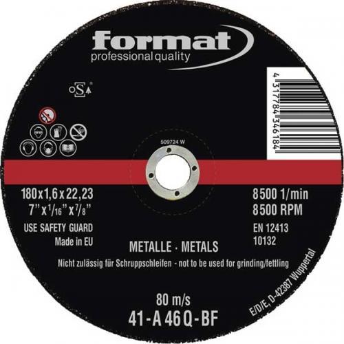 Kapskiva 125 x 1 mm Format stål