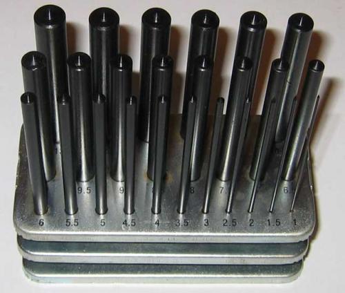 Centreringskörnare 25 st 1-13 mm