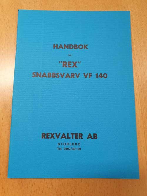 Handbok Rex VF140