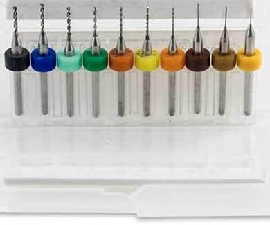 Mikroborr 0,3-1,2 mm 10 st HM