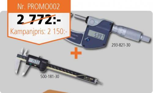 Paket skjutmått + mikrometer digital Mitutoyo