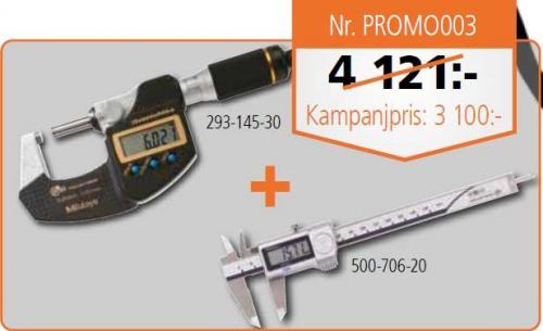 Paket skjutmått + mikrometer digital IP 65/67 Mitutoyo