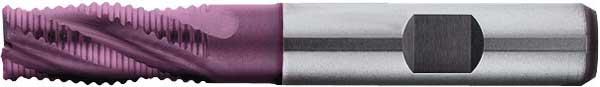 Skrubbfräs 07 mm kort HSS-E TiAIN Format