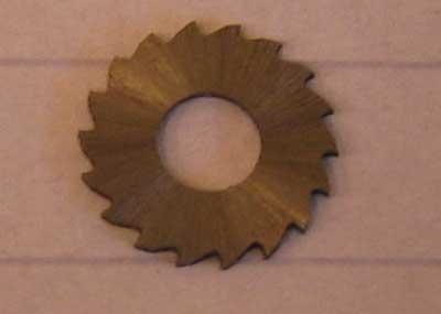Slitsfräs 10 x 0,6 x 4 mm