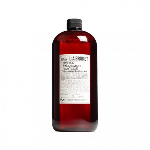L:A Bruket Refill flytande Tvål Citrongräs 1000ml