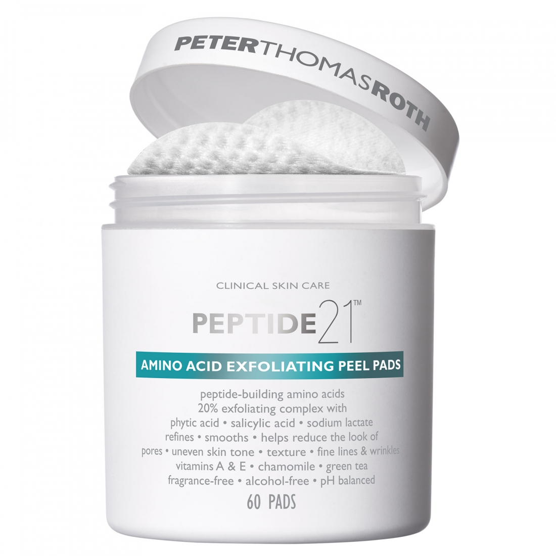 Peter Thomas Roth Peptide21 Amino Acid Exfoliating Peel Pads 60 Pads