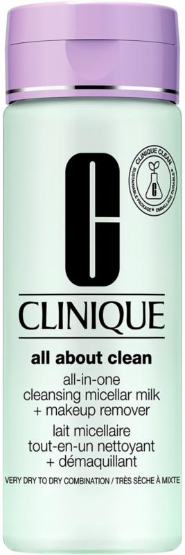 Clinique All-in-One Cleansing Micellar Milk + Makeup Remover Skin Type, Skin Type 1&2