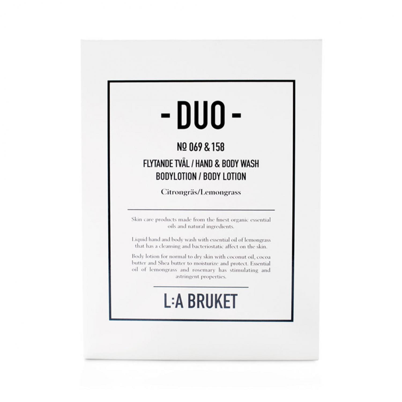 L:A Bruket Duo-kit Flytande Tvål/Bodylotion Citrongräs 200ml