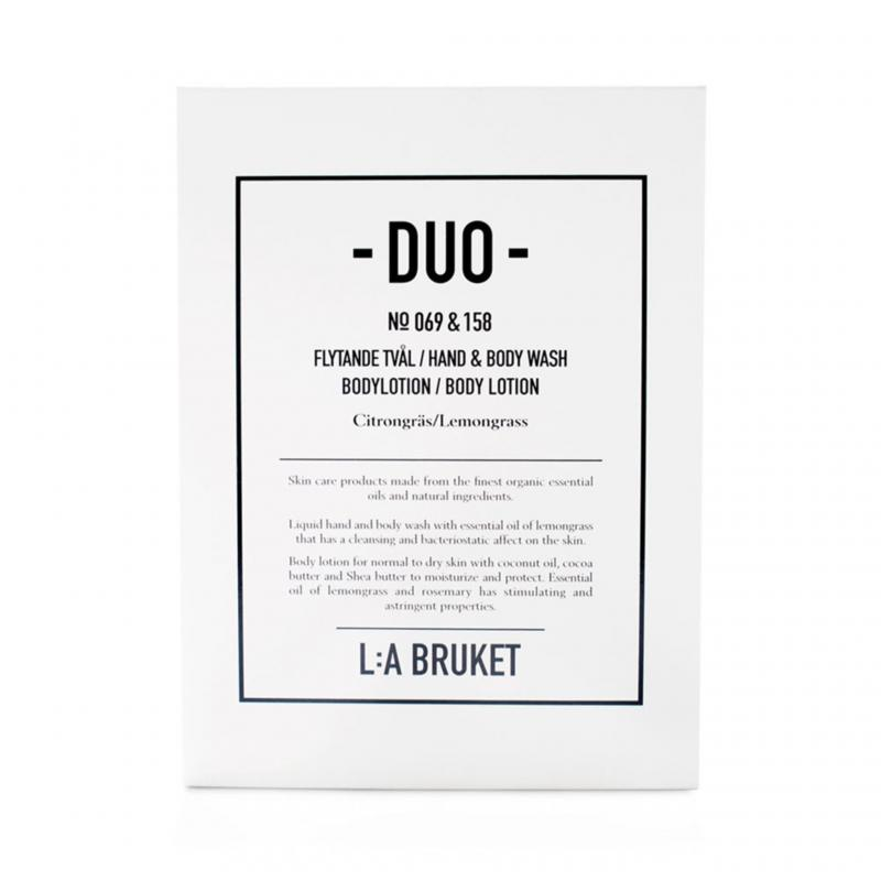 L:A Bruket Duo-kit Flytande Tvål/Bodylotion Citrongräs 200ml
