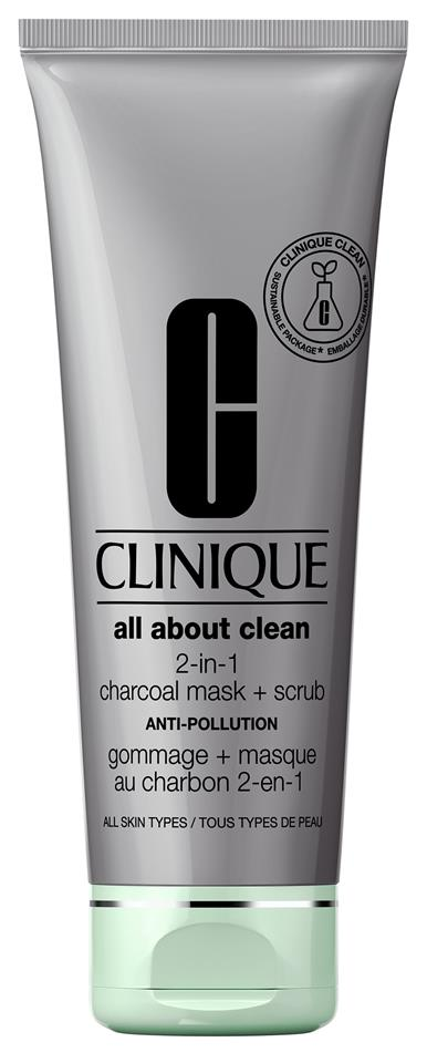 Clinique All About Clean Charcoal Mask Scrub Anti Pollution 100 ml