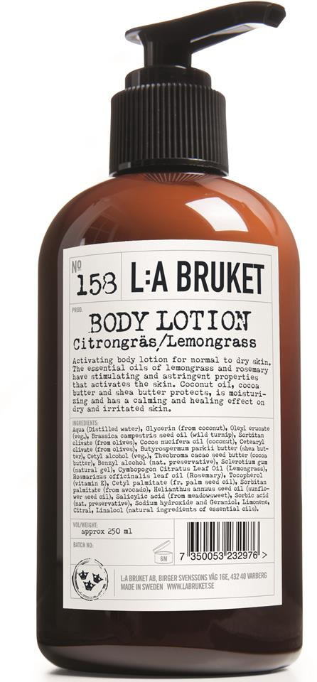 L:A Bruket Bodylotion Citrongräs 250 ml