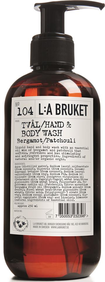 L:A Bruket Flytande tvål Bergamott/Patchouli 450 ml
