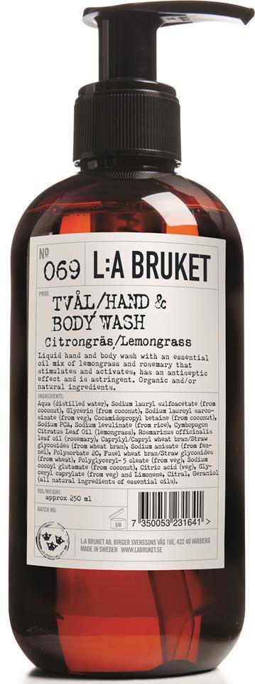 L:A Bruket Flytande tvål Citrongräs 450 ml
