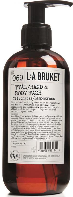 L:A Bruket Flytande tvål Citrongräs 250 ml