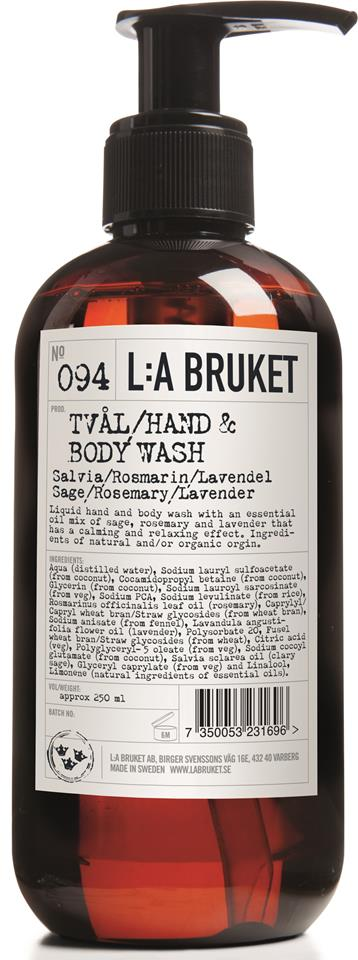 L:A Bruket Flytande tvål Salvia/Rosmarin/Lavendel 250 ml