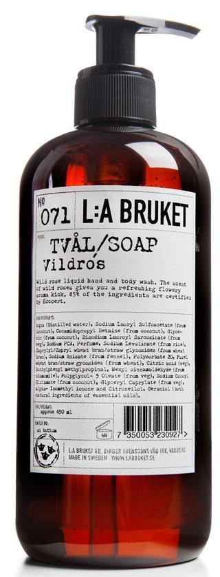 L:A Bruket Flytande tvål Vildros 450 ml