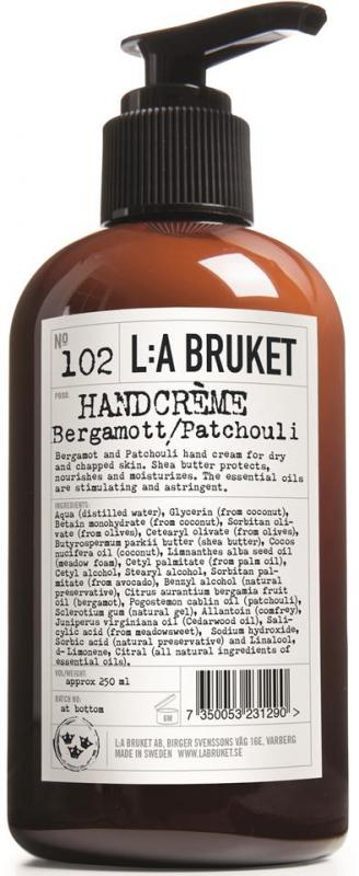 L:A Bruket Handcréme Bergamott/Patchouli