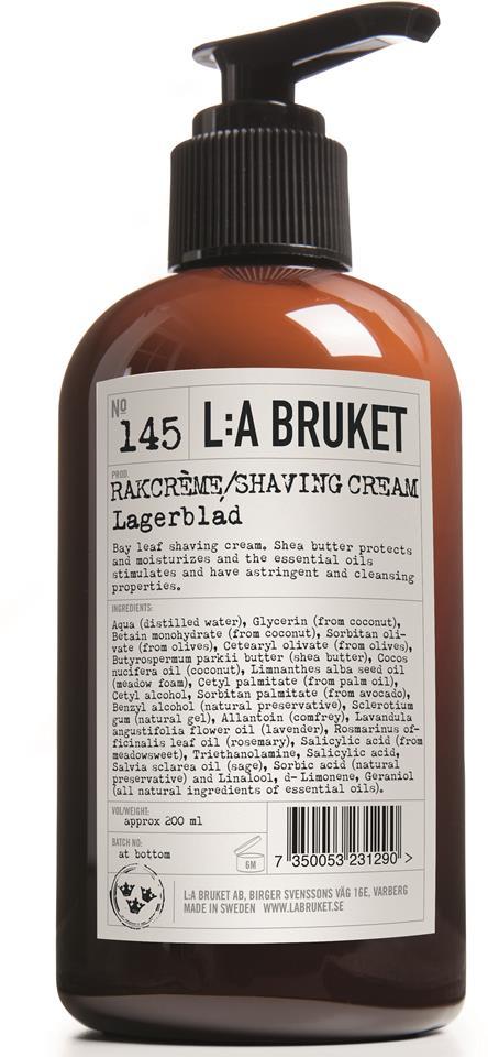 L:A Bruket Rakcréme Lagerblad 200ml