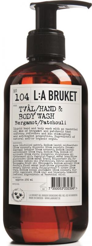 L:a Bruket Flytande tvål Bergamott/Patchouli
