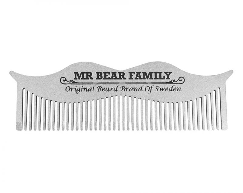 Mr Bear Family Moustasche Comb Steel
