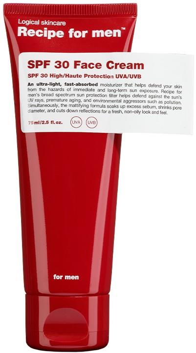 Recipe for men SPF 30 Face Cream
