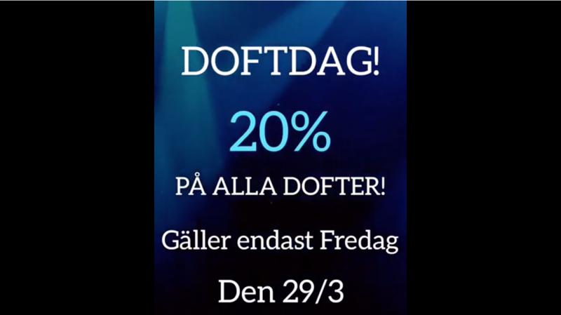 DOFTDAG! 20% på alla dofter.