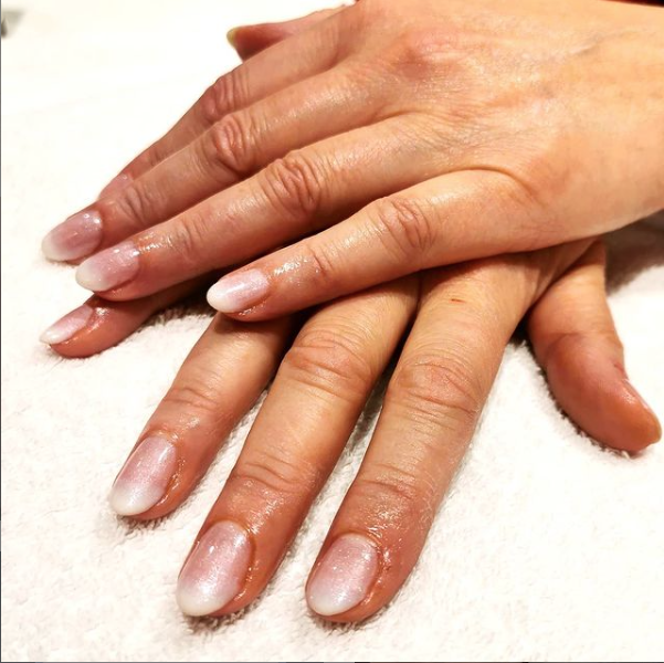 Faded french manicure!