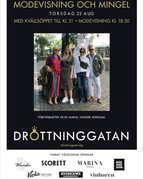 Modevisning på Drottninggatan i Varberg den 22/8!